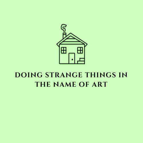 Doing strange things in the name of art logo green copy